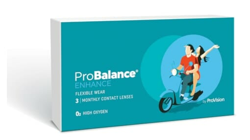 probalance enhance monthly contact lense